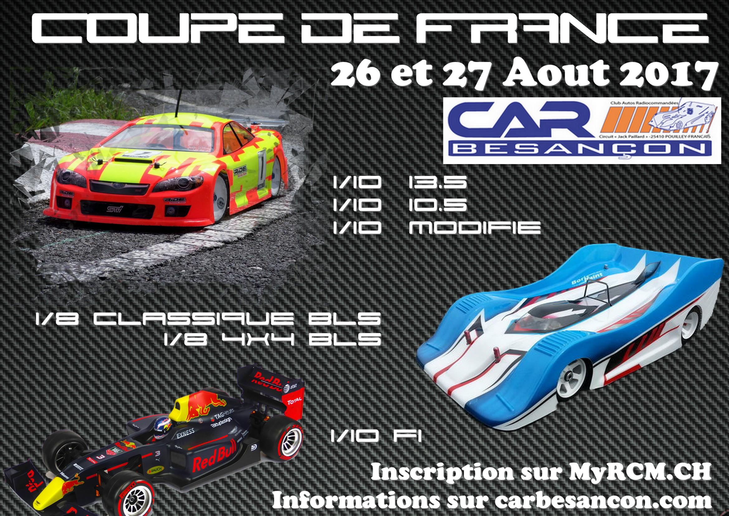 Coupe de France 1/10 et 1/8 élèctrique